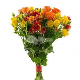 Букет из 9 кустовых роз