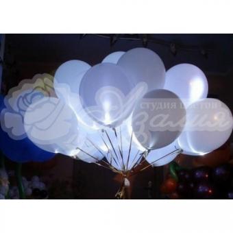 Светящиеся шары «Белые с белым светодиодом