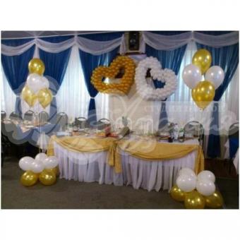 Оформление шарами на свадьбу «Комплект № 15»